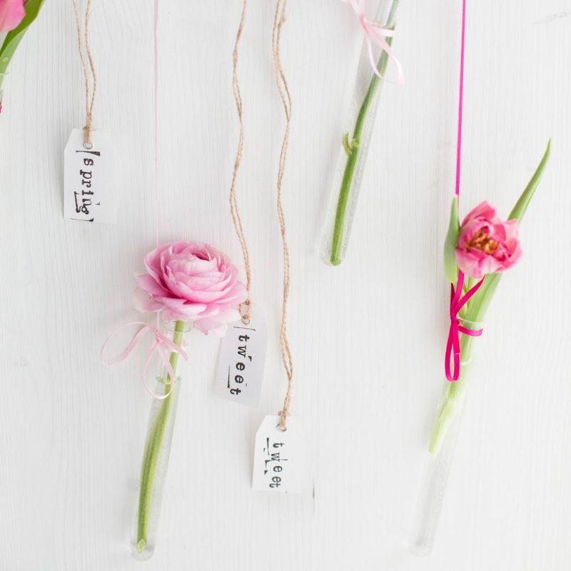 DIY Frühlingsblumen-Girlande