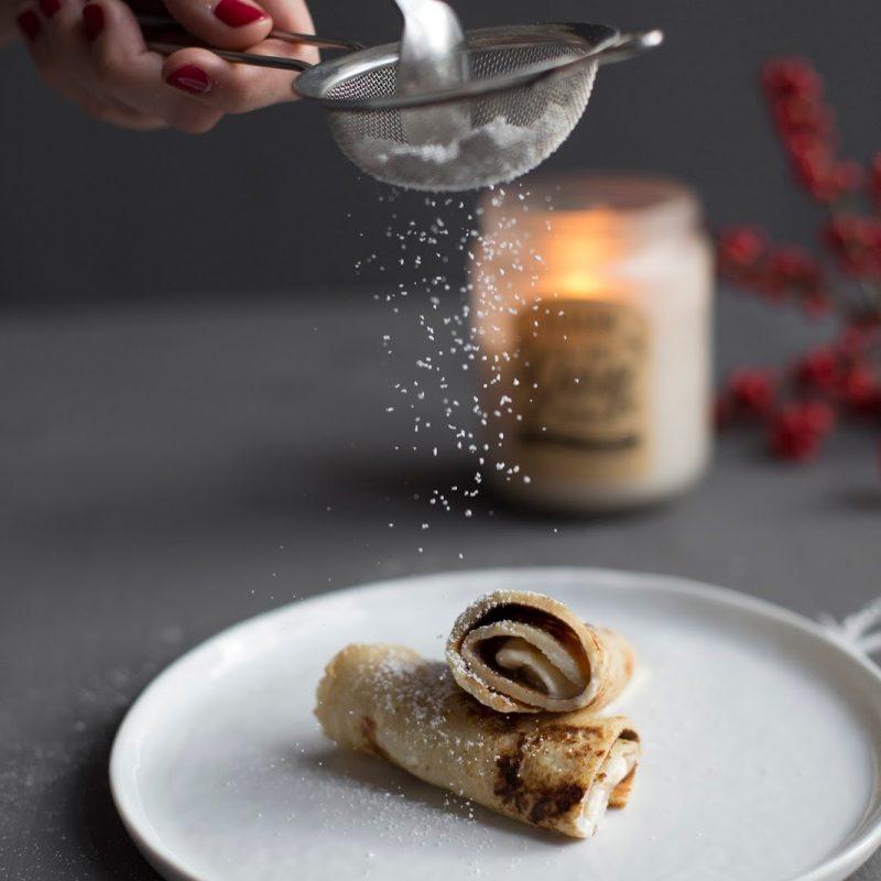 Sonntagsfrühstück – Apfelpfannkuchen mit Macadamiaeis