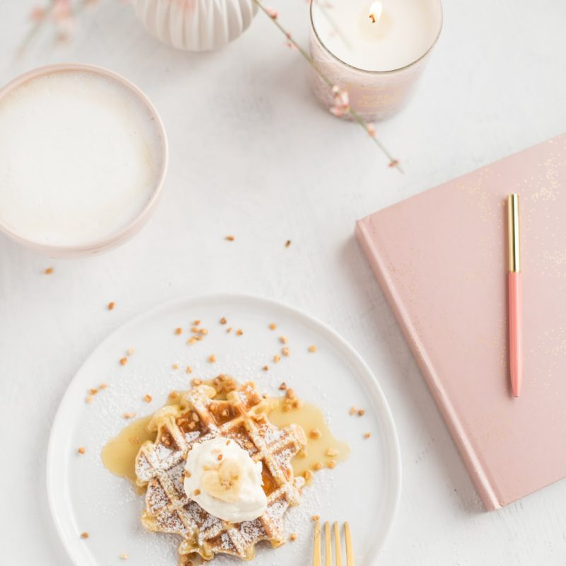 Banana Waffles with Almond Butter & French Toast Idea