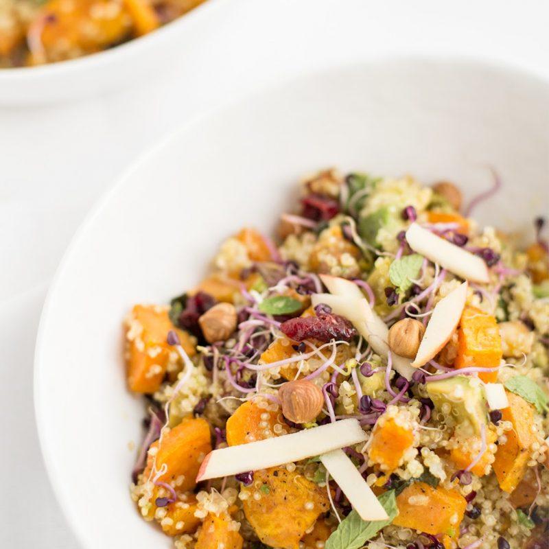 Quinoa Süßkartoffel Wintersalat