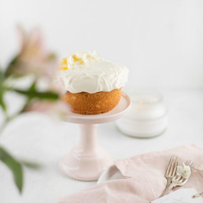 Zitronenkuchen mit Mascarponecreme