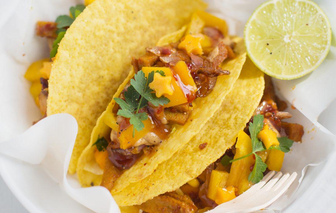 Vegan Mango Chicken Tacos