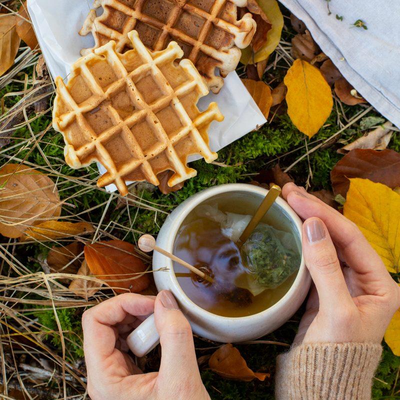 Herbstspaziergang mit Apfelwaffeln, Teepause & GIVEAWAY