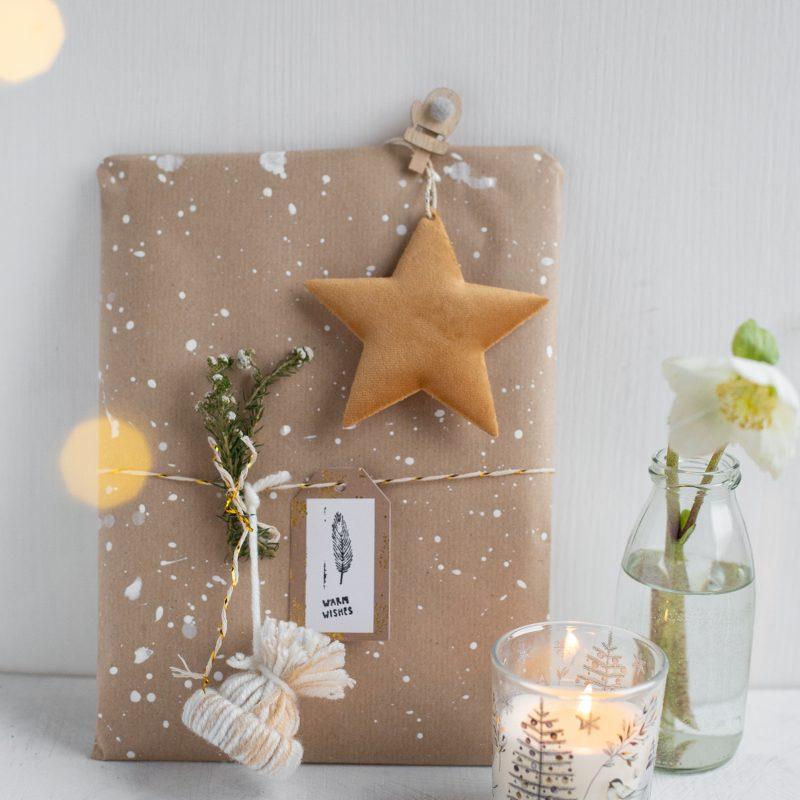 WINTERLICHE Weihnachts- geschenkverpackung